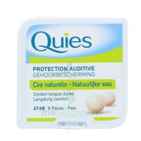 QUIES PROTECTION AUDITIVE CIRE NATURELLE 8 PAIRES à CANALS