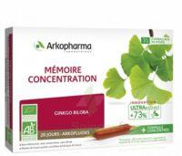 Arkofluide Bio Ultraextract Solution buvable mémoire concentration 20 Ampoules/10ml à CANALS