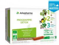 Arkofluide Bio Ultraextract Coffret Programme Détox 3x10 Ampoules/10ml à CANALS