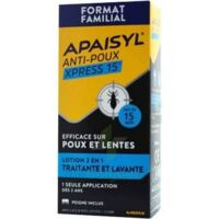 Apaisyl Anti-poux Xpress 15' Lotion Antipoux Et Lente 100ml+peigne à CANALS