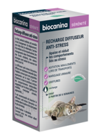 Biocanina Recharge pour diffuseur anti-stress chat 45ml à CANALS