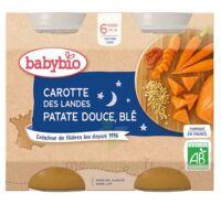 Babybio Pot Bonne Nuit Carotte Patate Douce Blé à CANALS